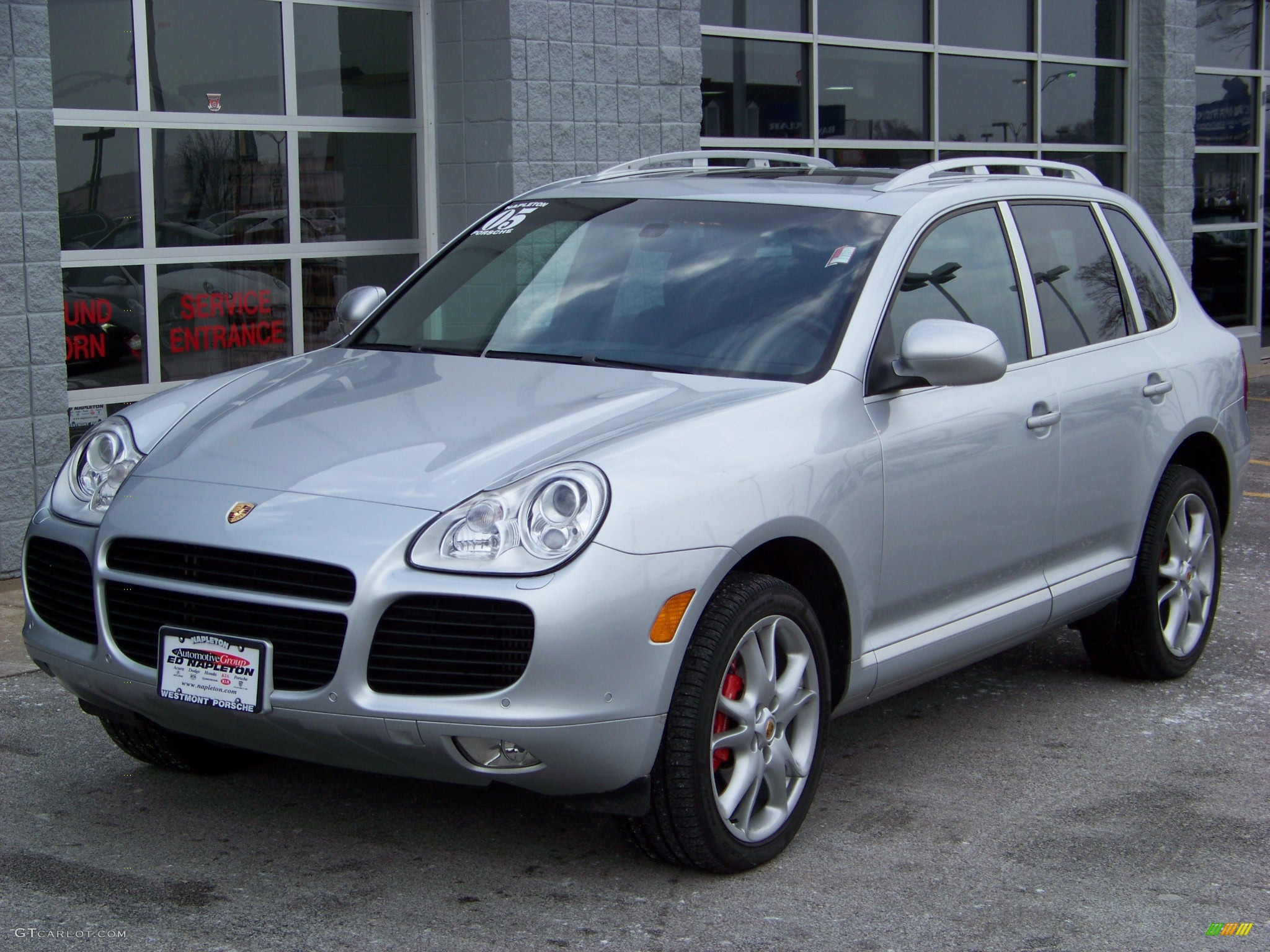 2005 crystal silver metallic porsche cayenne turbo 105878 car color galleries. Black Bedroom Furniture Sets. Home Design Ideas