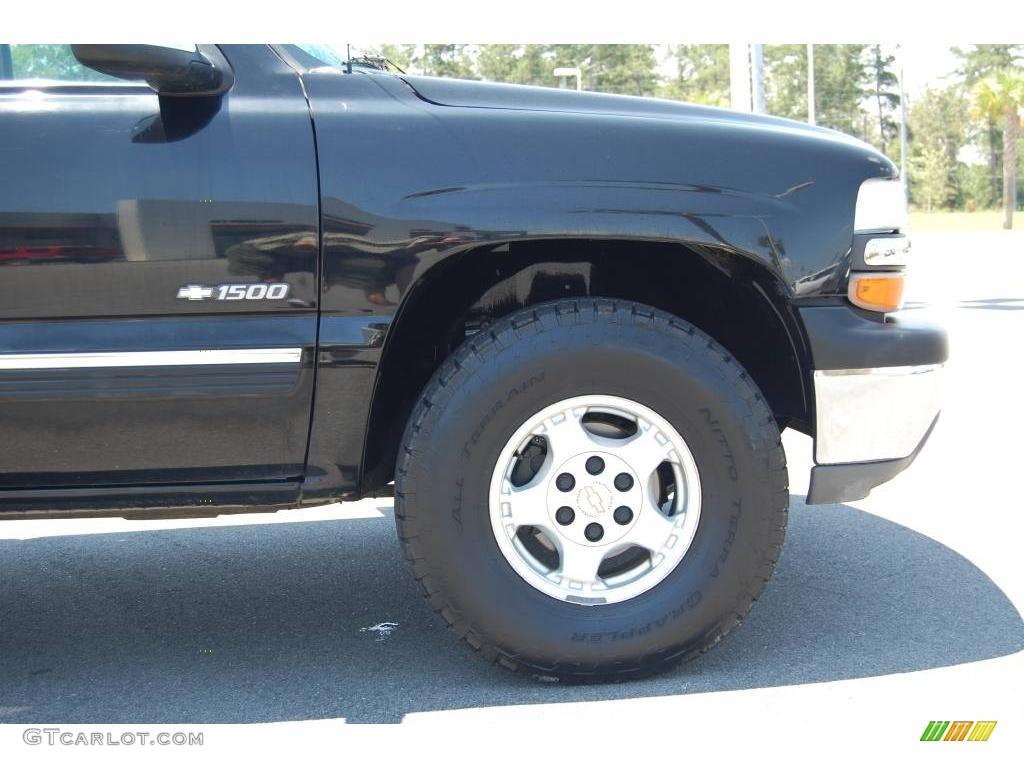 2002 Silverado 1500 LS Regular Cab 4x4 - Onyx Black / Graphite Gray photo #7