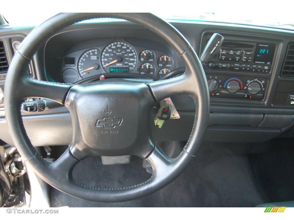 2002 Silverado 1500 LS Regular Cab 4x4 - Onyx Black / Graphite Gray photo #11