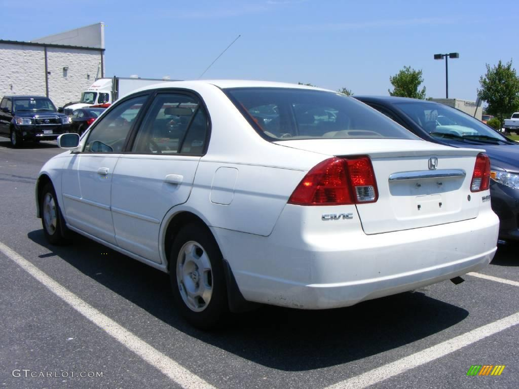 Honda honda civic 2003 hybrid : 2003 Taffeta White Honda Civic Hybrid Sedan #10604705 Photo #3 ...