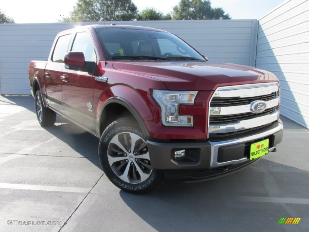 2015 ruby red metallic ford f150 king ranch supercrew 4x4 106241874 car color. Black Bedroom Furniture Sets. Home Design Ideas