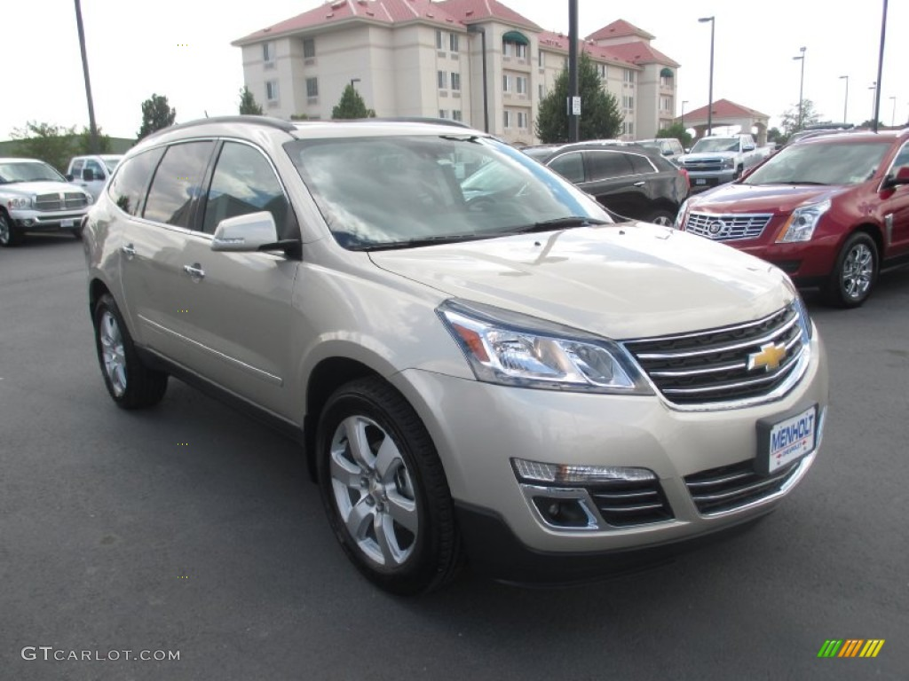 2016 champagne silver metallic chevrolet traverse ltz awd 106265537 car color. Black Bedroom Furniture Sets. Home Design Ideas