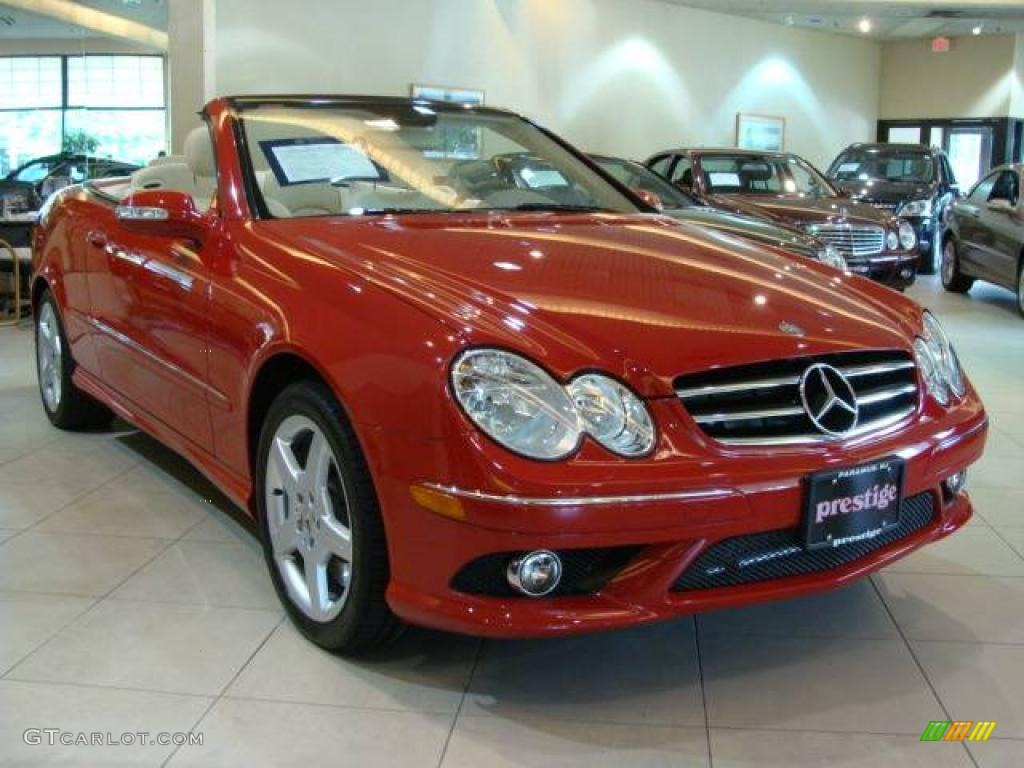 2006 mars red mercedes benz clk 500 cabriolet 10591397 for 2006 mercedes benz clk 500