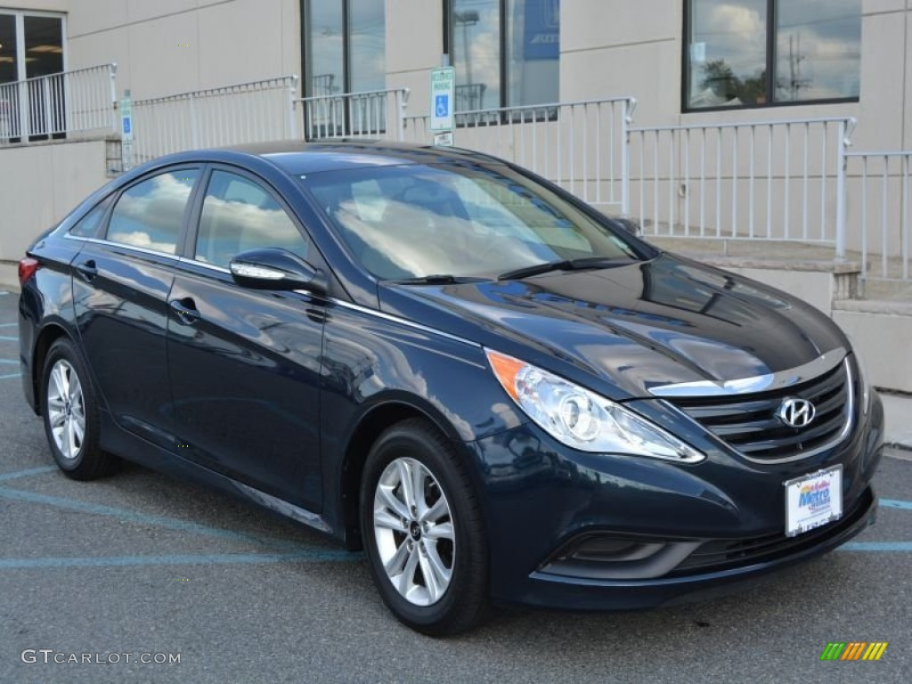 2014 indigo blue pearl hyundai sonata gls 106304579 car color galleries. Black Bedroom Furniture Sets. Home Design Ideas