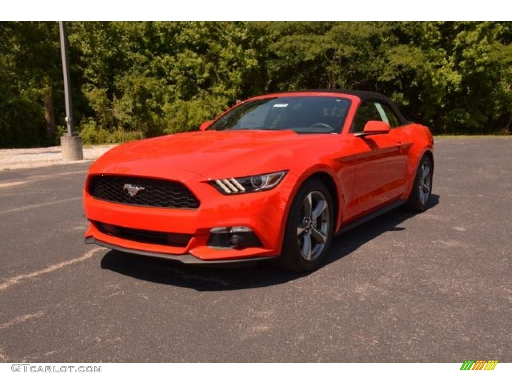 2015 Race Red Ford Mustang V6 Convertible 106334756 Car Color Galleries