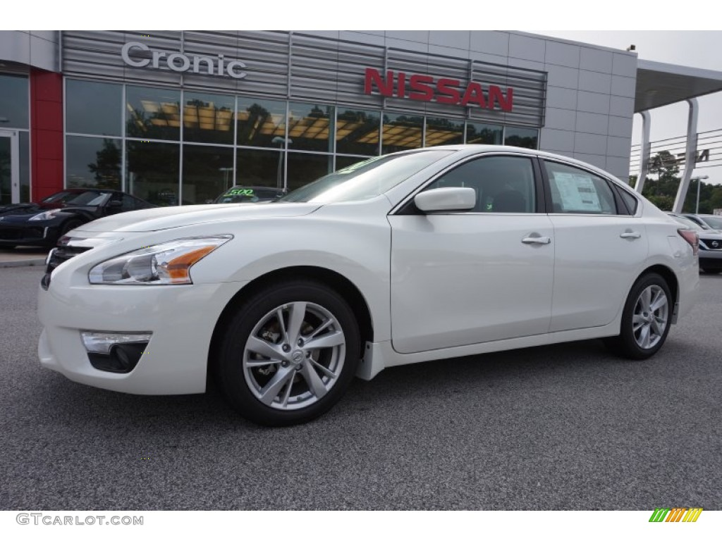 2015 pearl white nissan altima 2 5 sv 106363231 car color galleries. Black Bedroom Furniture Sets. Home Design Ideas