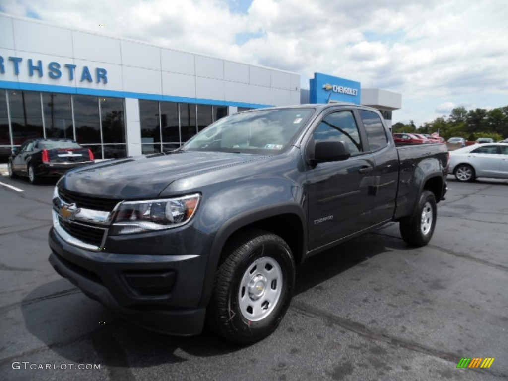 2016 cyber gray metallic chevrolet colorado wt extended cab 4x4 106363151 car. Black Bedroom Furniture Sets. Home Design Ideas