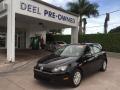 Black 2012 Volkswagen Golf 4 Door
