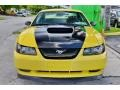 2002 Zinc Yellow Ford Mustang V6 Coupe  photo #2