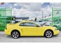 2002 Zinc Yellow Ford Mustang V6 Coupe  photo #8