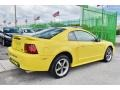 2002 Zinc Yellow Ford Mustang V6 Coupe  photo #9