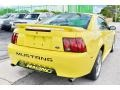 2002 Zinc Yellow Ford Mustang V6 Coupe  photo #11