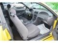 2002 Zinc Yellow Ford Mustang V6 Coupe  photo #23