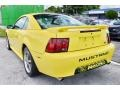2002 Zinc Yellow Ford Mustang V6 Coupe  photo #43