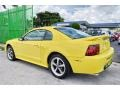 2002 Zinc Yellow Ford Mustang V6 Coupe  photo #44