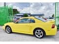 2002 Zinc Yellow Ford Mustang V6 Coupe  photo #45