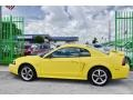 2002 Zinc Yellow Ford Mustang V6 Coupe  photo #46