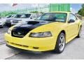 2002 Zinc Yellow Ford Mustang V6 Coupe  photo #49