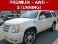White Diamond Tricoat 2013 Cadillac Escalade Premium AWD