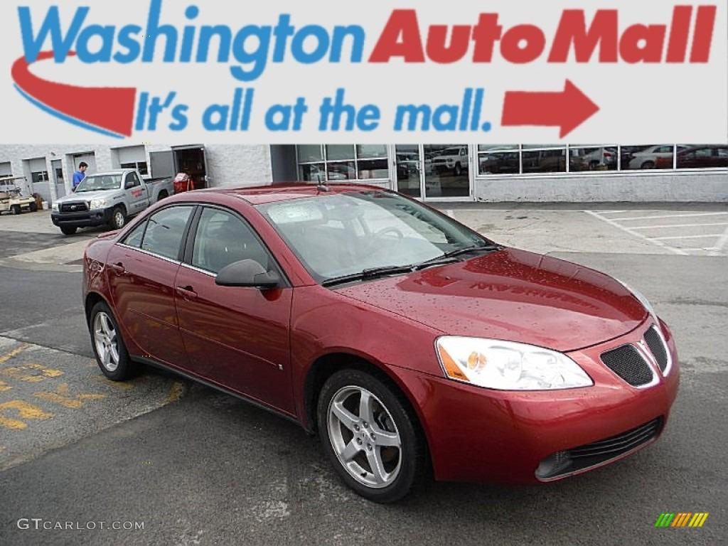 2008 Performance Red Metallic Pontiac G6 V6 Sedan