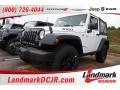 Bright White 2015 Jeep Wrangler Willys Wheeler W 4x4