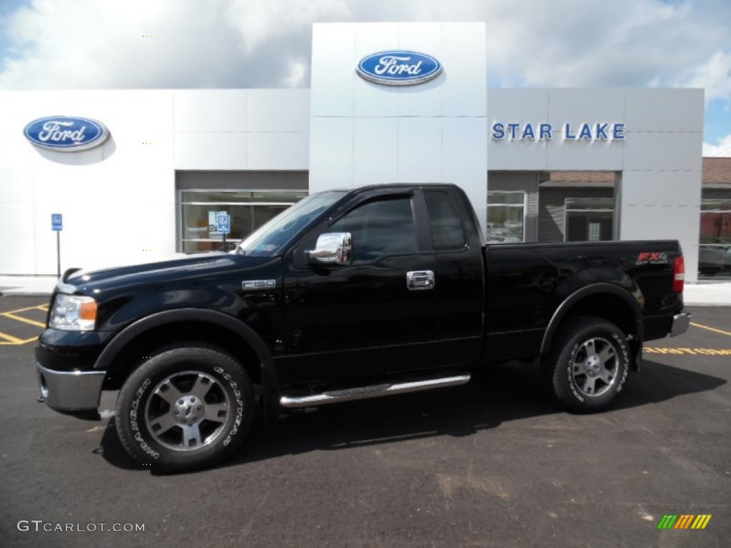 2007 black ford f150 fx4 regular cab 4x4 106479445 car color galleries. Black Bedroom Furniture Sets. Home Design Ideas