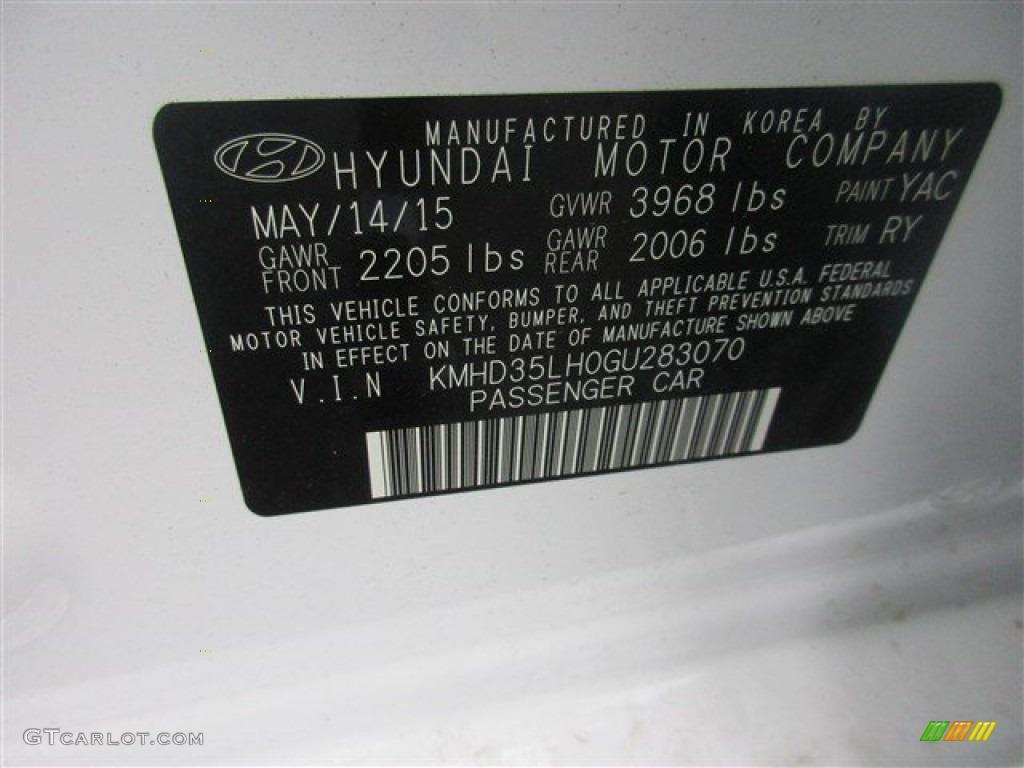 2016 Hyundai Elantra Gt Standard Elantra Gt Model Color