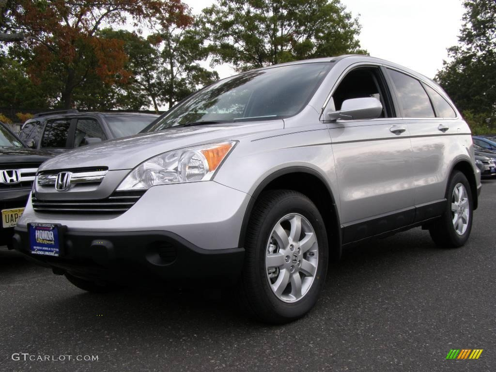 2009 CR-V EX-L 4WD - Alabaster Silver Metallic / Black photo #1