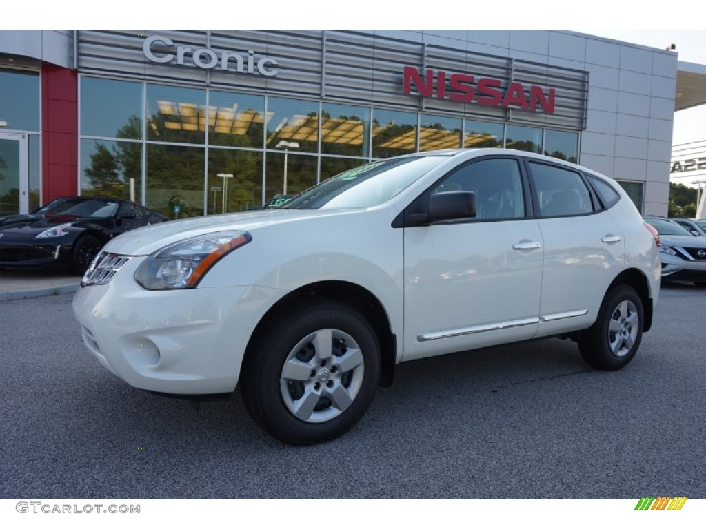 2015 pearl white nissan rogue select s 106619592. Black Bedroom Furniture Sets. Home Design Ideas