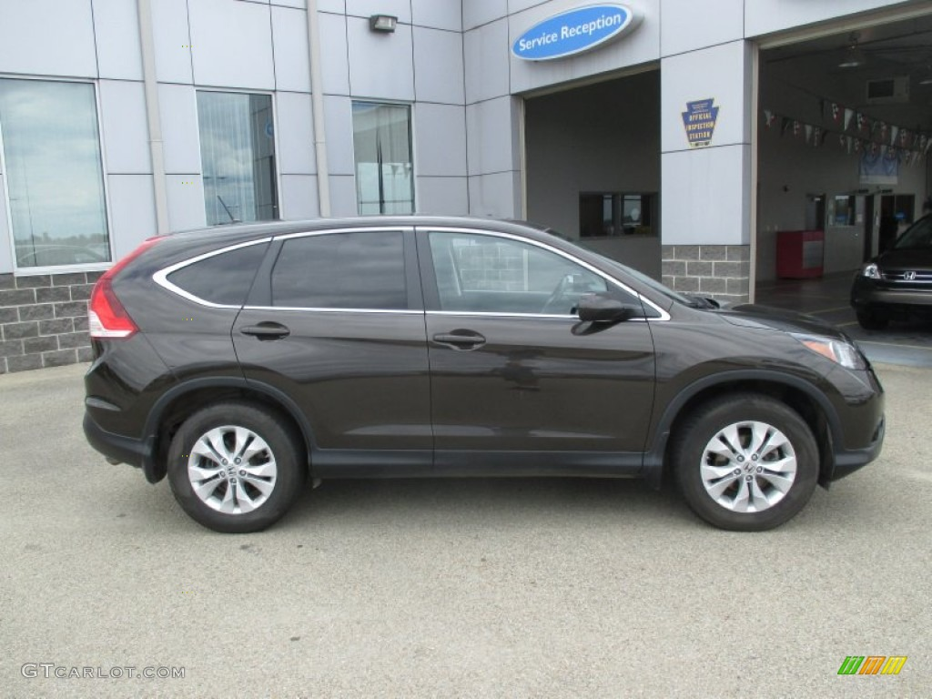 2013 CR-V EX AWD - Kona Coffee Metallic / Black photo #2