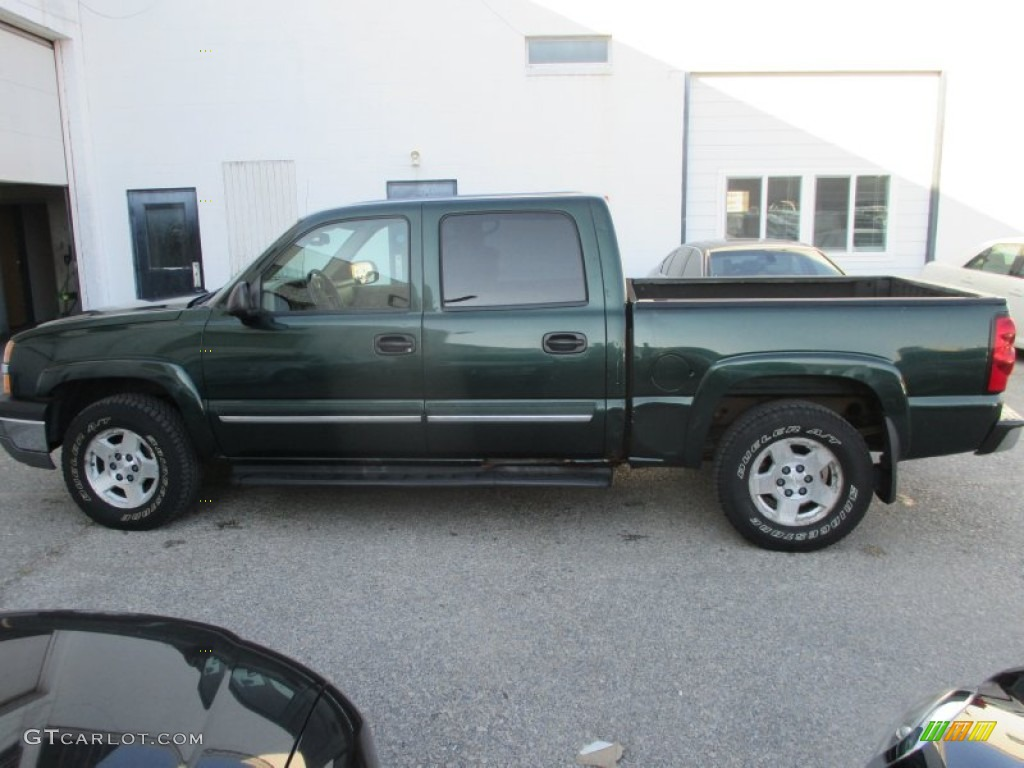 2004 Silverado 1500 LT Crew Cab 4x4 - Dark Green Metallic / Tan photo #7
