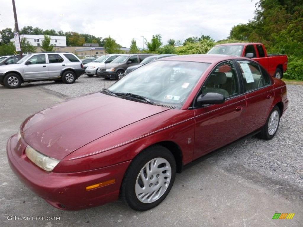 Medium Red 1999 Saturn S Series SL2 Sedan Exterior Photo ...