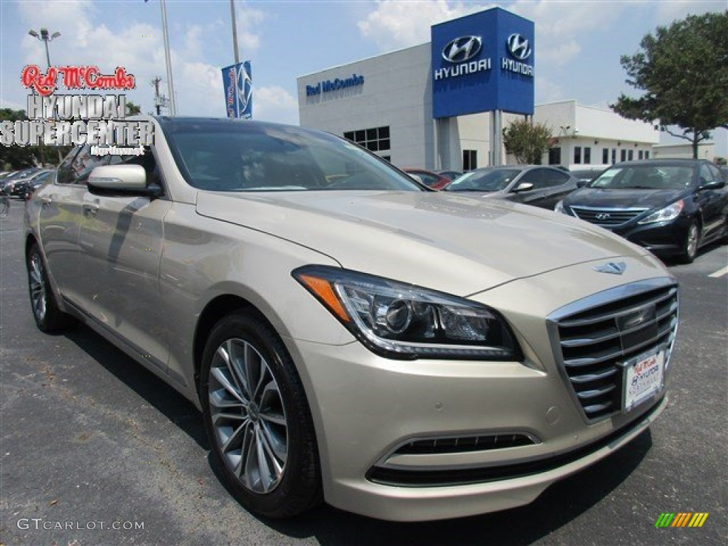 2015 Marrakesh Beige Hyundai Genesis 3.8 Sedan #106724558 ...