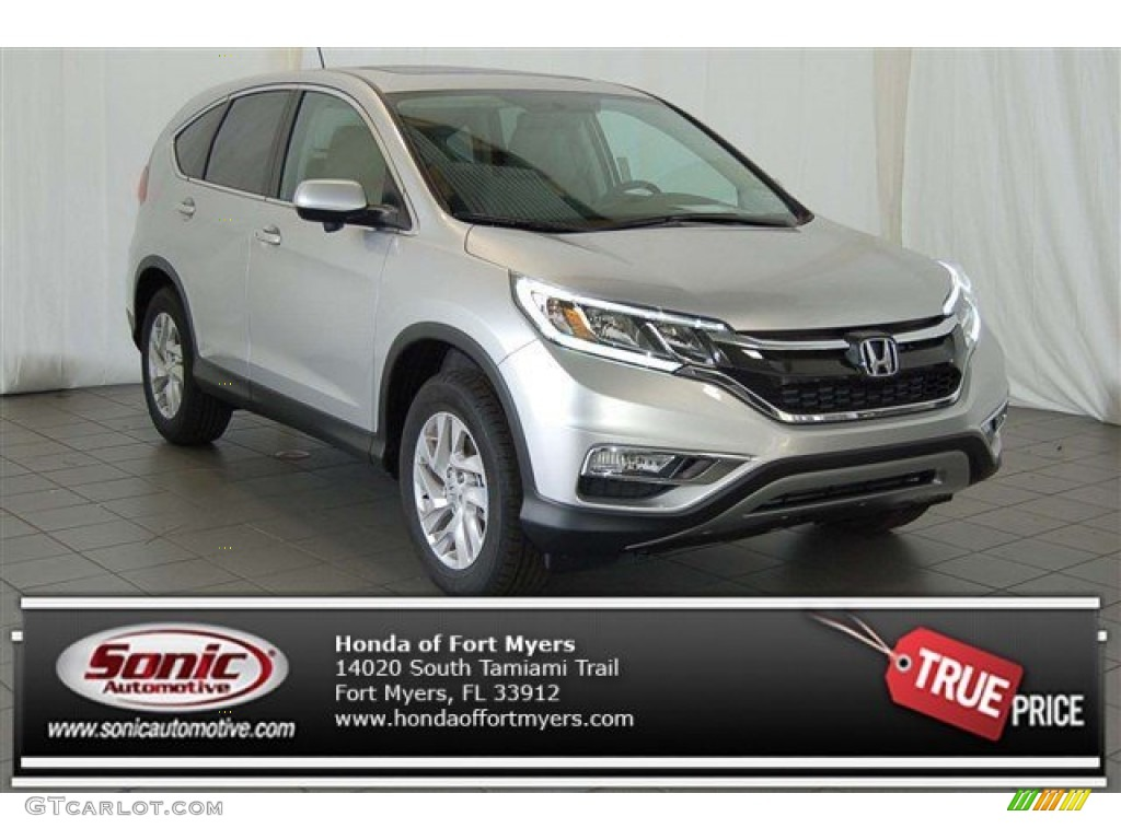 2015 CR-V EX - Alabaster Silver Metallic / Black photo #1