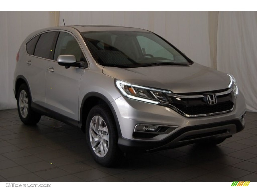 2015 CR-V EX - Alabaster Silver Metallic / Black photo #2