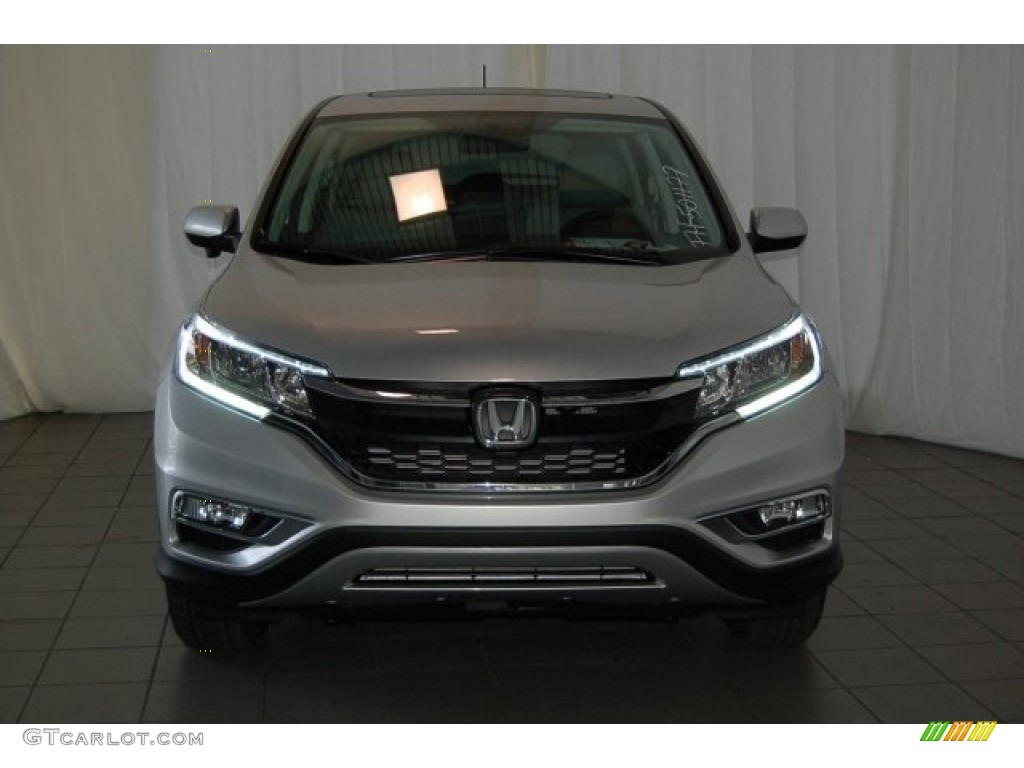2015 CR-V EX - Alabaster Silver Metallic / Black photo #3