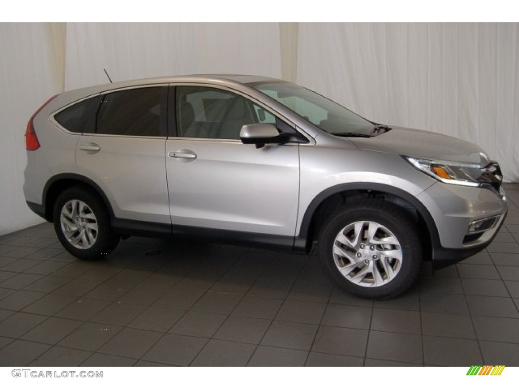 2015 CR-V EX - Alabaster Silver Metallic / Black photo #5