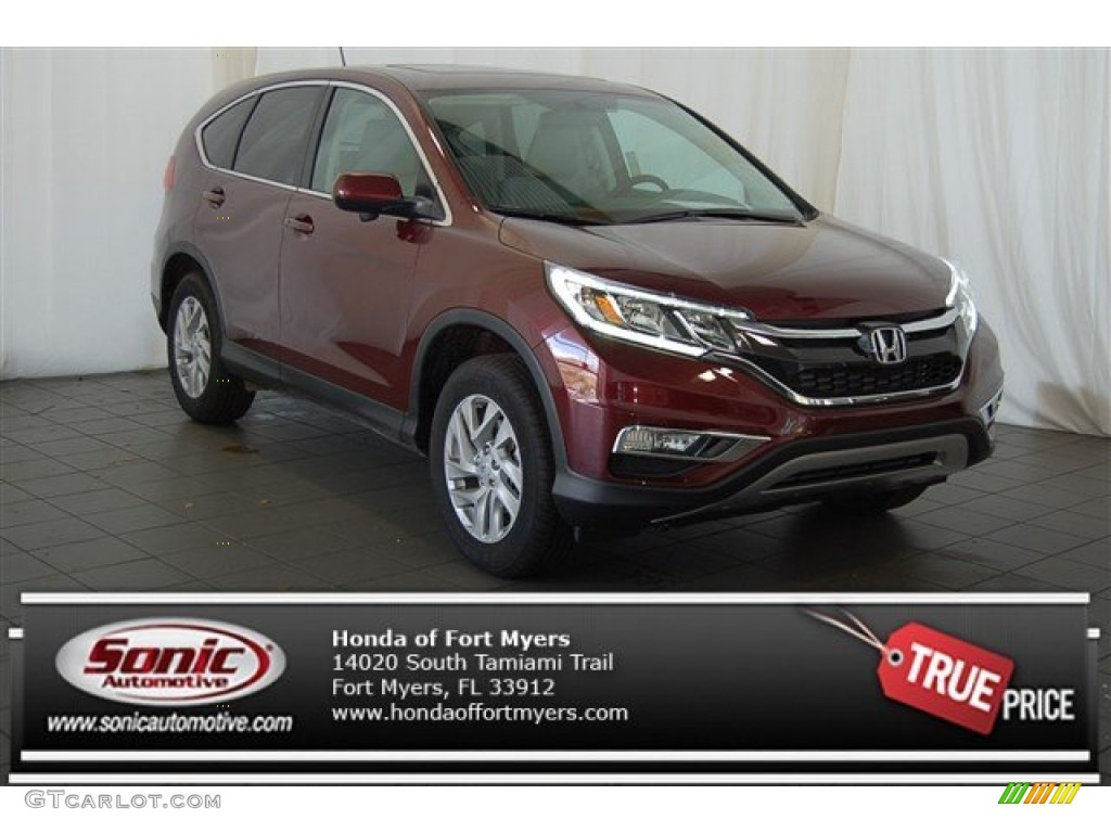 2015 CR-V EX - Basque Red Pearl II / Gray photo #1