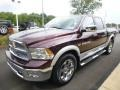 2012 Deep Molten Red Pearl Dodge Ram 1500 Laramie Crew Cab 4x4  photo #8