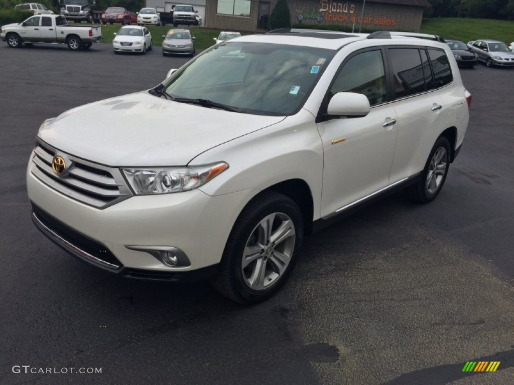 2011 blizzard white pearl toyota highlander limited 4wd 106759091 photo 2 car. Black Bedroom Furniture Sets. Home Design Ideas