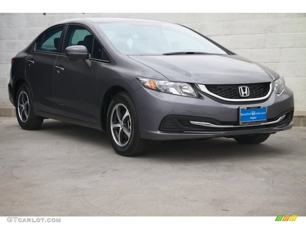 2015 Civic SE Sedan - Modern Steel Metallic / Black photo #1