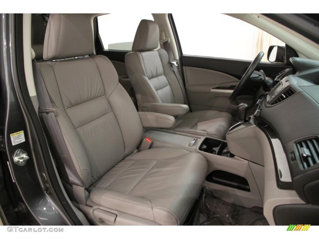 2014 CR-V EX-L AWD - Polished Metal Metallic / Gray photo #14