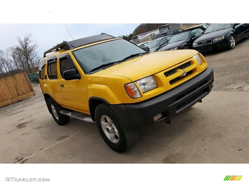 solar yellow 2000 nissan xterra se v6 4x4 exterior photo. Black Bedroom Furniture Sets. Home Design Ideas