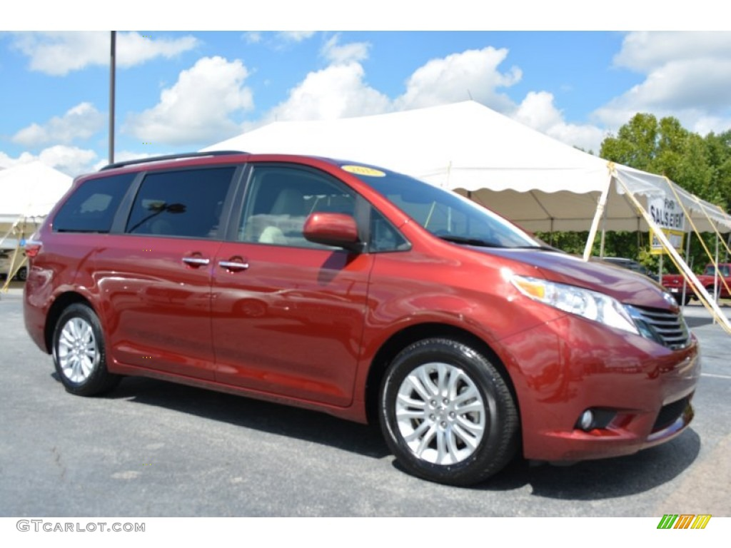 2015 salsa red pearl toyota sienna xle 106793425 car color galleries. Black Bedroom Furniture Sets. Home Design Ideas
