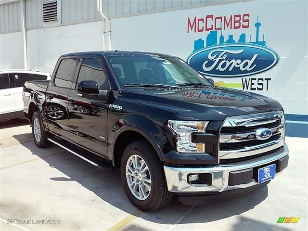 2015 Tuxedo Black Metallic Ford F150 Lariat SuperCrew 106810851
