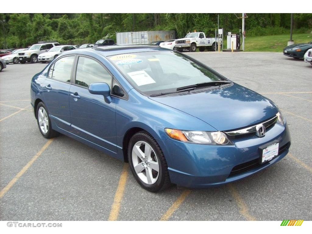 2006 atomic blue metallic honda civic ex sedan 10685305. Black Bedroom Furniture Sets. Home Design Ideas