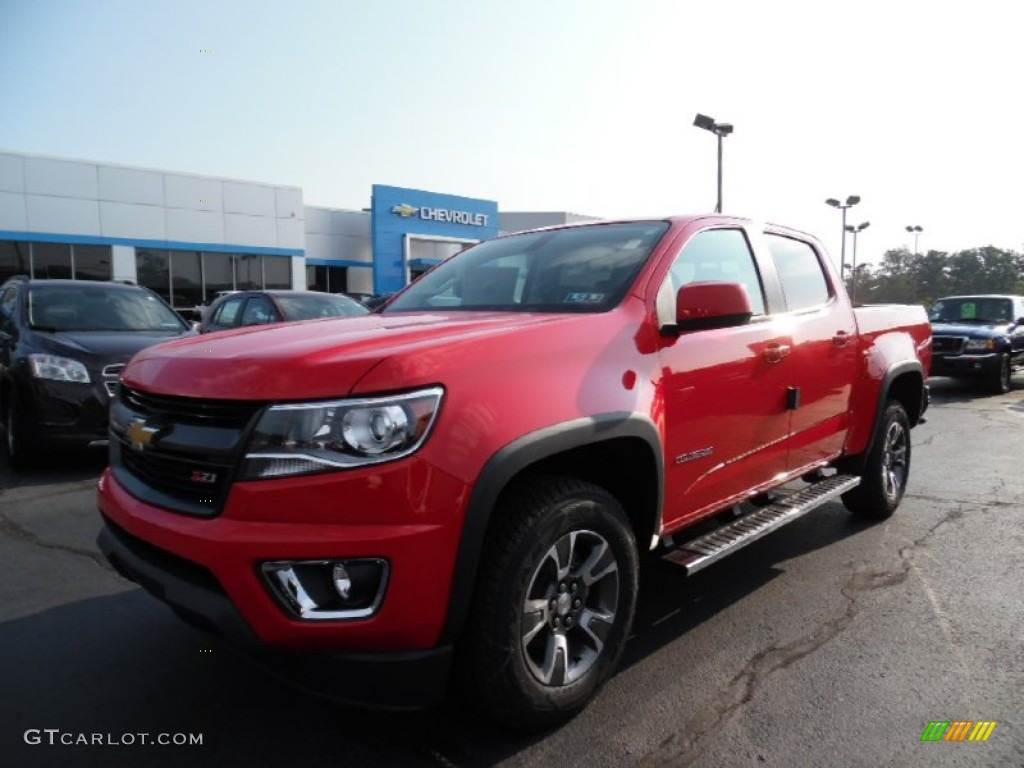 2016 red hot chevrolet colorado z71 crew cab 4x4. Black Bedroom Furniture Sets. Home Design Ideas
