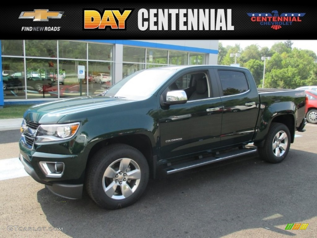 Chevy Colorado Green >> 2016 Rainforest Green Metallic Chevrolet Colorado LT Crew Cab 4x4 #106920093 | GTCarLot.com ...
