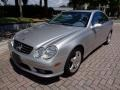 Brilliant Silver Metallic 2003 Mercedes-Benz CLK 500 Coupe