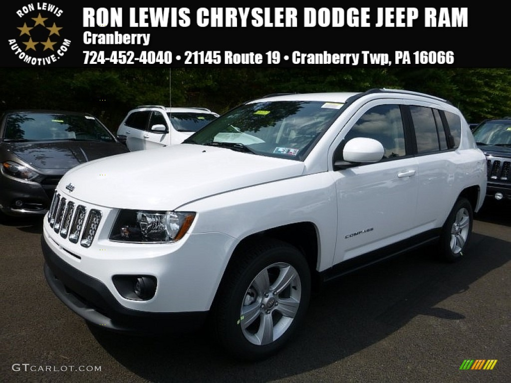 2016 Bright White Jeep Compass Latitude 4x4 106977388  GTCarLot